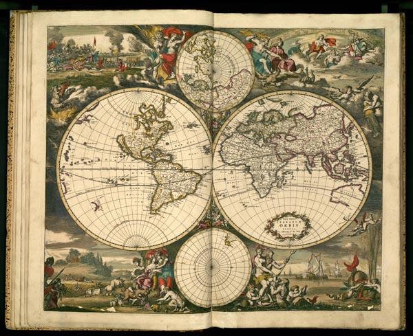 Раздел старинные карты весь мир