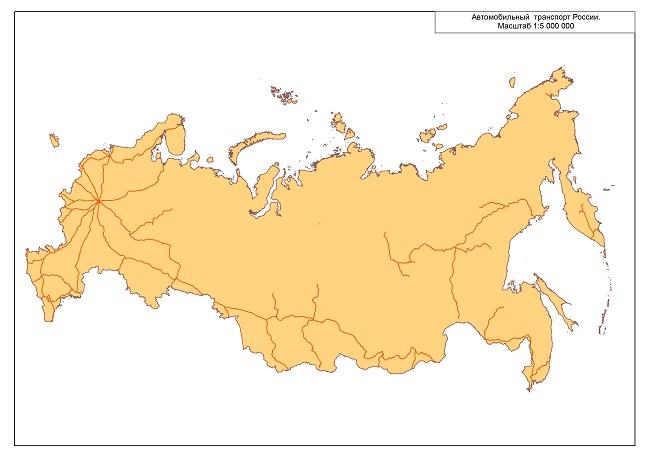 Административно-территориальное деление России.  Масштаб 1:2 500 000.