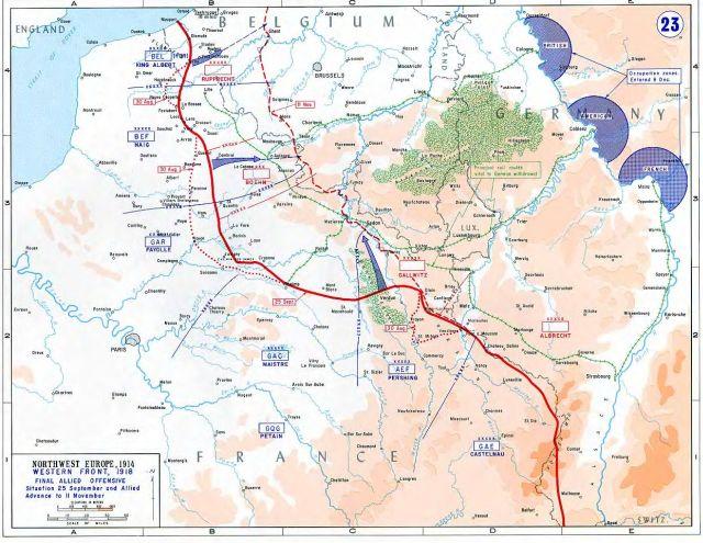Карта северо западной европы 1914 года